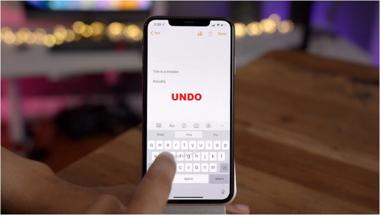 how to undo text on mac