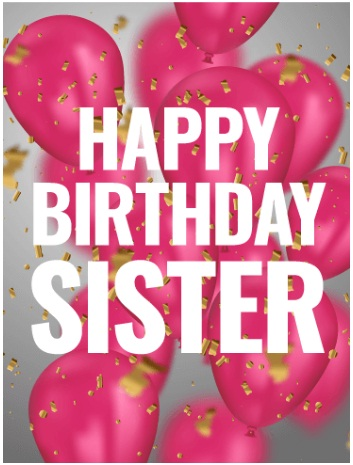 Special Sister Happy Birthday Images With Quotes