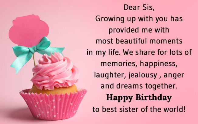 happy birthday dear sister images with quotes