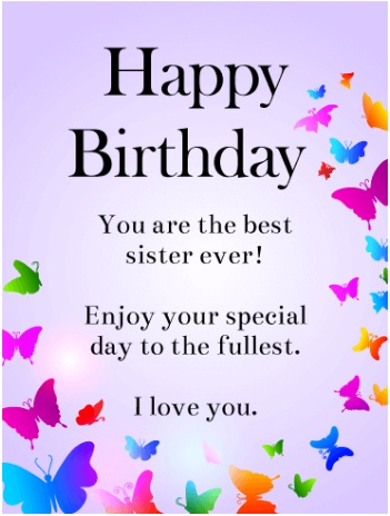 what should i write in my sister's birthday card
