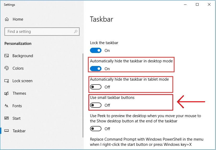 How To Change The Size Of  The Windows Taskbar