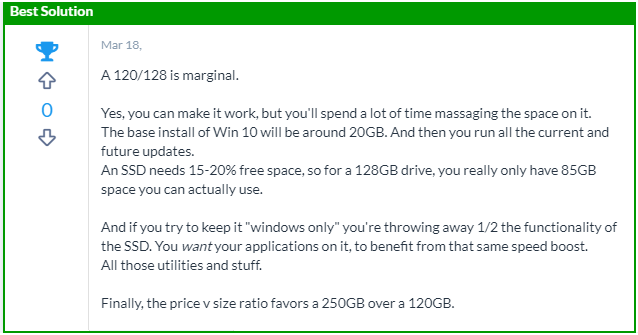 Is 128 GB SSD with installed windows 10 enough