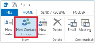 creating a distribution list on outlook