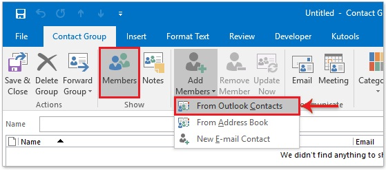 outlook allows users to create a group of e-mail