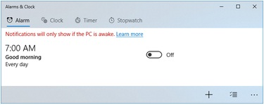 select an existing alarm windows 10 to edit it or click the Add New Alarm button to add a new alarm.