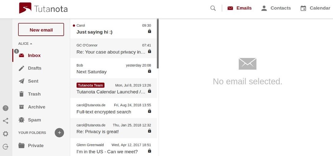tutanota email provider