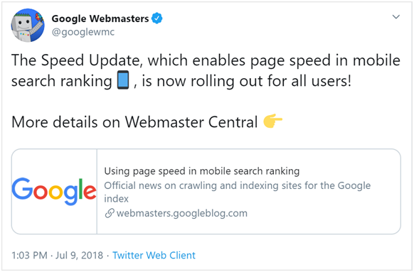 your website might have loaded quickly