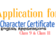 character certificate application
